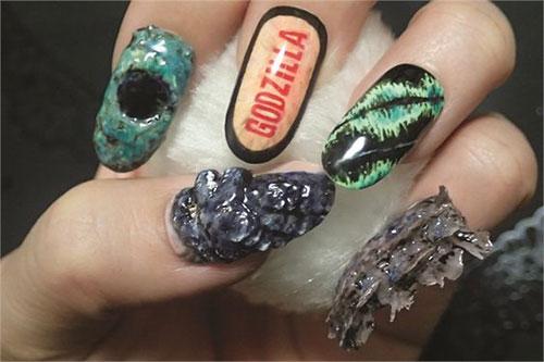 Godzilla-Nail-Art-Designs-Ideas-Trends-2019-Godzilla-Nails-3