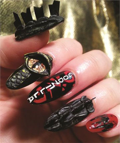 Godzilla-Nail-Art-Designs-Ideas-Trends-2019-Godzilla-Nails-5