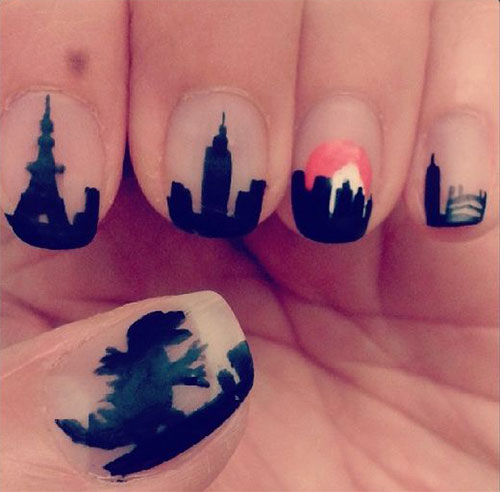 Godzilla-Nail-Art-Designs-Ideas-Trends-2019-Godzilla-Nails-8