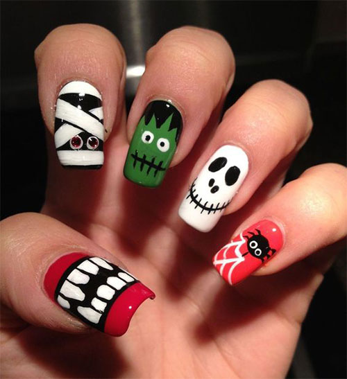 Halloween-Acrylic-Nails-Art-Designs-Ideas-2019-7