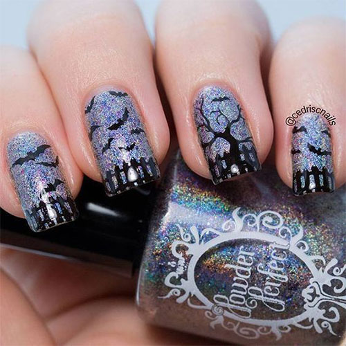 Halloween-Bat-Nails-Art-Designs-Ideas-2019-12