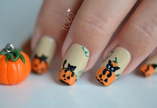 Halloween-Cat-Nails-Art-Designs-Ideas-2019-14