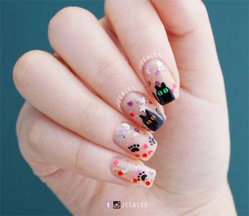 Halloween-Cat-Nails-Art-Designs-Ideas-2019-15
