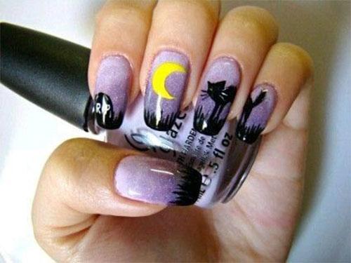 Halloween-Cat-Nails-Art-Designs-Ideas-2019-2