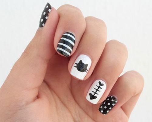 Halloween-Cat-Nails-Art-Designs-Ideas-2019-3