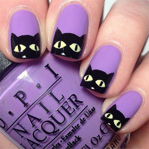 Halloween-Cat-Nails-Art-Designs-Ideas-2019-5