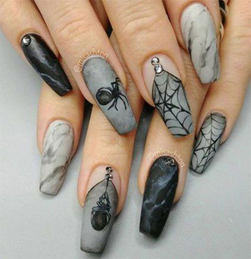 Halloween-Coffin-Nails-Art-Designs-Ideas-2019-6