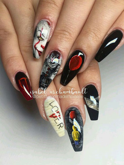 Halloween-Coffin-Nails-Art-Designs-Ideas-2019-7
