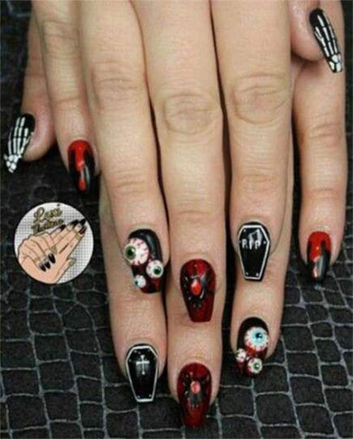 Halloween-Coffin-Nails-Art-Designs-Ideas-2019-8