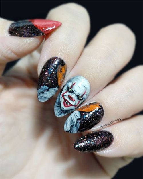 Halloween-Creepy-Clown-Nails-Art-2019-10