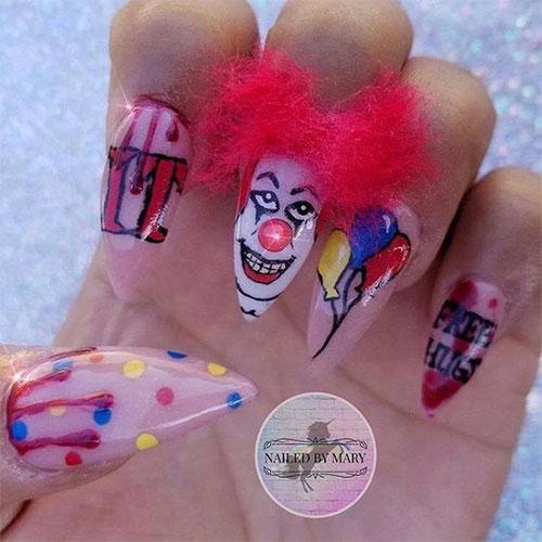 Halloween-Creepy-Clown-Nails-Art-2019-13