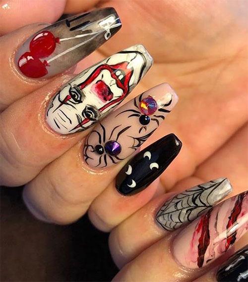 Halloween-Creepy-Clown-Nails-Art-2019-18