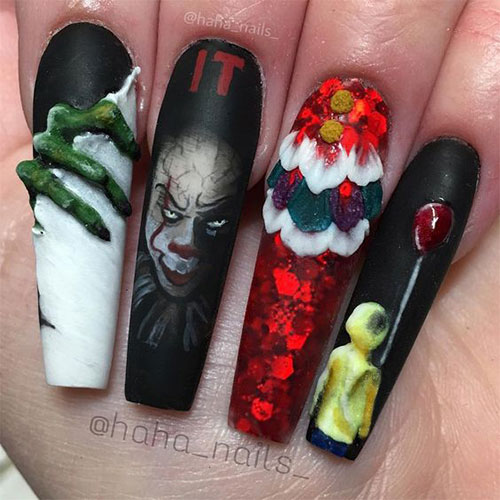 Halloween-Creepy-Clown-Nails-Art-2019-3