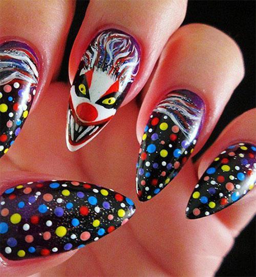Halloween-Creepy-Clown-Nails-Art-2019-5