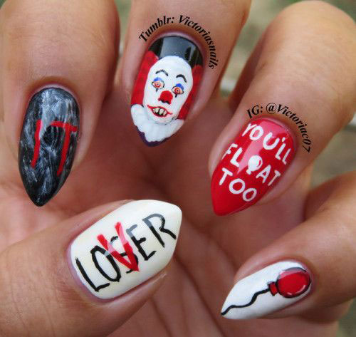 Halloween-Creepy-Clown-Nails-Art-2019-6