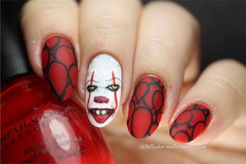 Halloween-Creepy-Clown-Nails-Art-2019-7