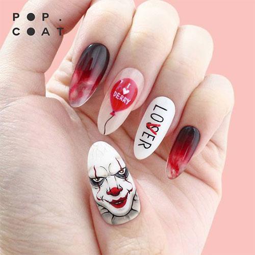 Halloween-Creepy-Clown-Nails-Art-2019-8