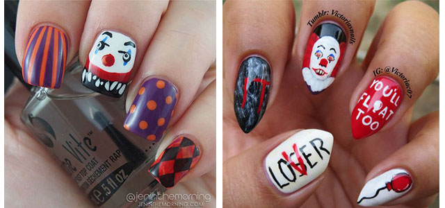 Halloween-Creepy-Clown-Nails-Art-2019-F