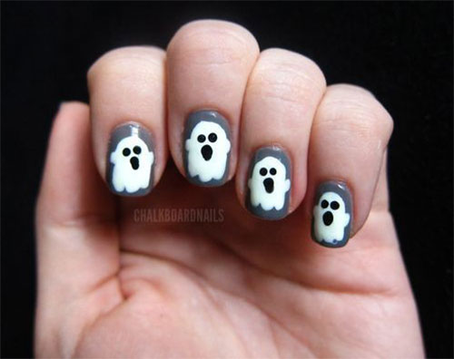 Halloween-Ghost-Nails-Art-Designs-Ideas-2019-1