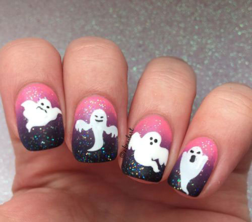 Halloween-Ghost-Nails-Art-Designs-Ideas-2019-11