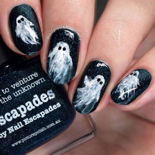 Halloween-Ghost-Nails-Art-Designs-Ideas-2019-13