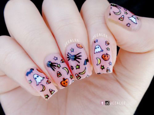 Halloween-Ghost-Nails-Art-Designs-Ideas-2019-17