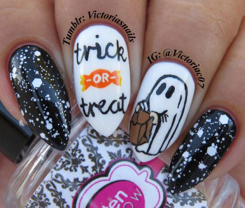 Halloween-Ghost-Nails-Art-Designs-Ideas-2019-5