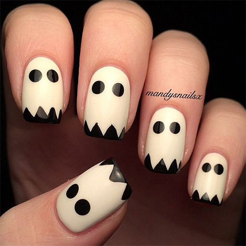 Halloween-Ghost-Nails-Art-Designs-Ideas-2019-7