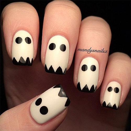 Halloween-Ghost-Nails-Art-Designs-Ideas-2019-7