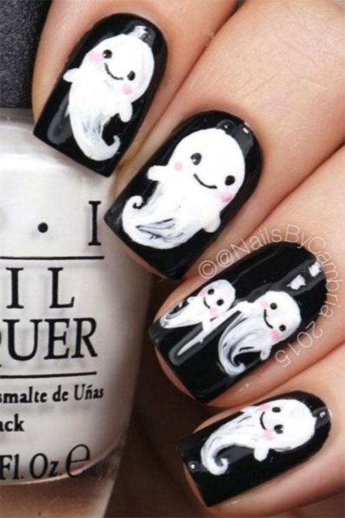 Halloween-Ghost-Nails-Art-Designs-Ideas-2019-8