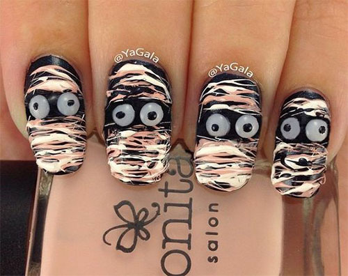 Halloween-Mummy-Nails-Art-Designs-Ideas-2019-1