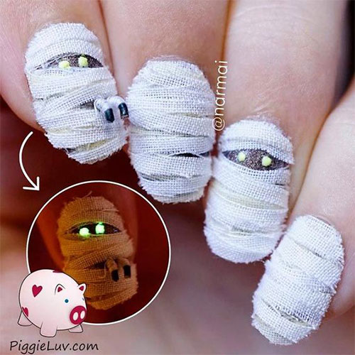 Halloween-Mummy-Nails-Art-Designs-Ideas-2019-11