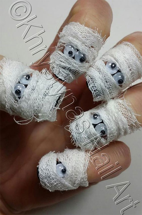 Halloween-Mummy-Nails-Art-Designs-Ideas-2019-12