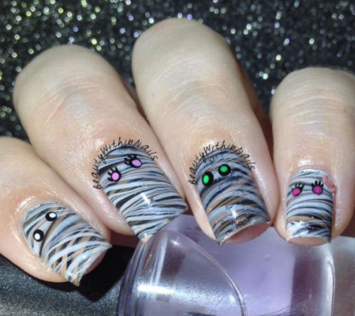 Halloween-Mummy-Nails-Art-Designs-Ideas-2019-5