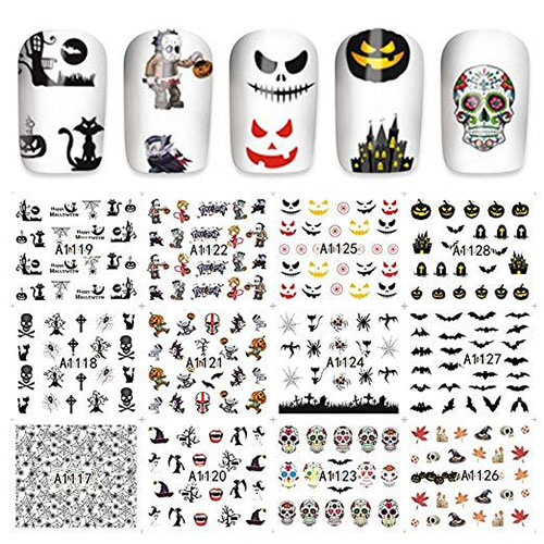 Halloween-Nails-Art-Stickers-Decals-2019-19