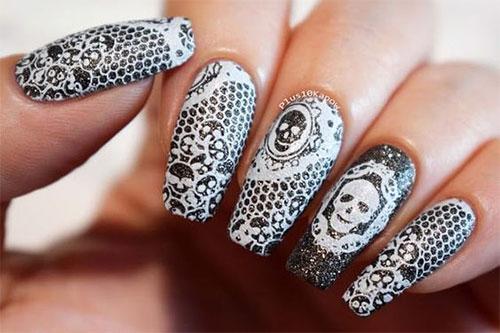 Halloween-Skull-Nails-Art-Designs-2019-14