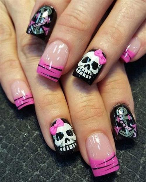Halloween-Skull-Nails-Art-Designs-2019-15