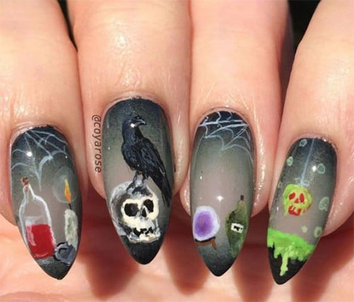 Halloween-Skull-Nails-Art-Designs-2019-3