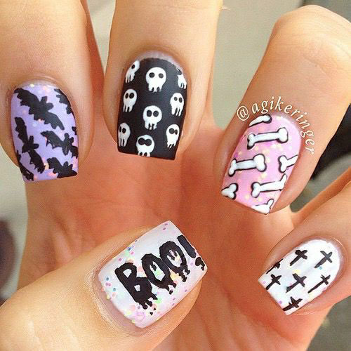 Halloween-Skull-Nails-Art-Designs-2019-6