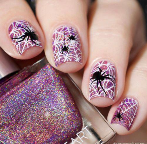 Halloween-Spider-Nail-Art-Designs-2019-Spider-Web-Nails-1