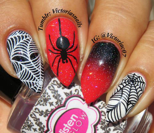 Halloween-Spider-Nail-Art-Designs-2019-Spider-Web-Nails-12