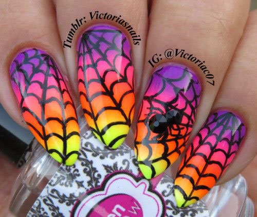 Halloween-Spider-Nail-Art-Designs-2019-Spider-Web-Nails-9