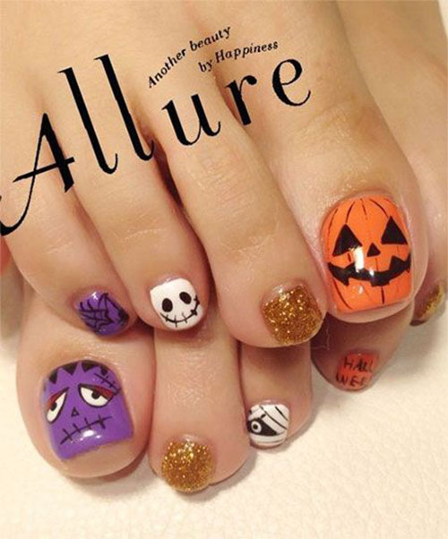 Halloween-Toe-Nails-Art-Designs-2019-5