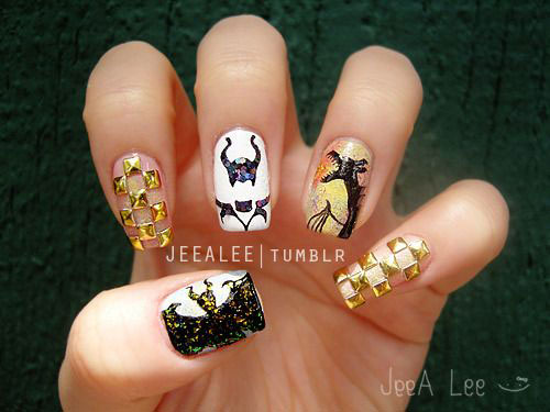 Maleficent-Nail-Art-Designs-Ideas-Trends-2019-Maleficent-Nails-14