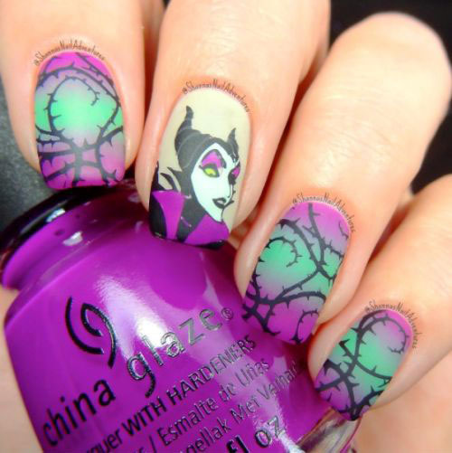 Maleficent-Nail-Art-Designs-Ideas-Trends-2019-Maleficent-Nails-4