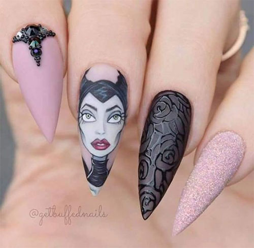 Maleficent-Nail-Art-Designs-Ideas-Trends-2019-Maleficent-Nails-8
