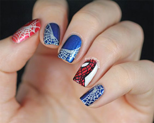 Spider-Man-Nail-Art-Designs-Ideas-Trends-2019-Spider-Man-Nails-11
