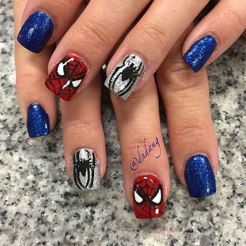 Spider-Man-Nail-Art-Designs-Ideas-Trends-2019-Spider-Man-Nails-2