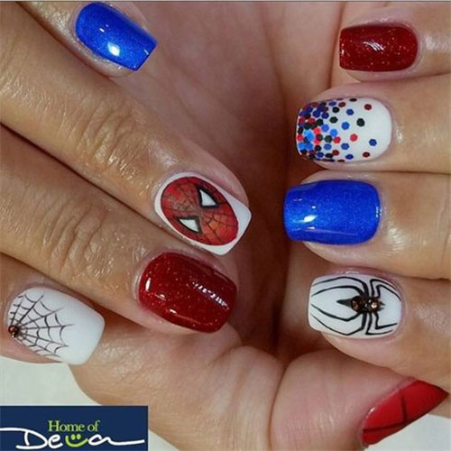 Spider-Man-Nail-Art-Designs-Ideas-Trends-2019-Spider-Man-Nails-6