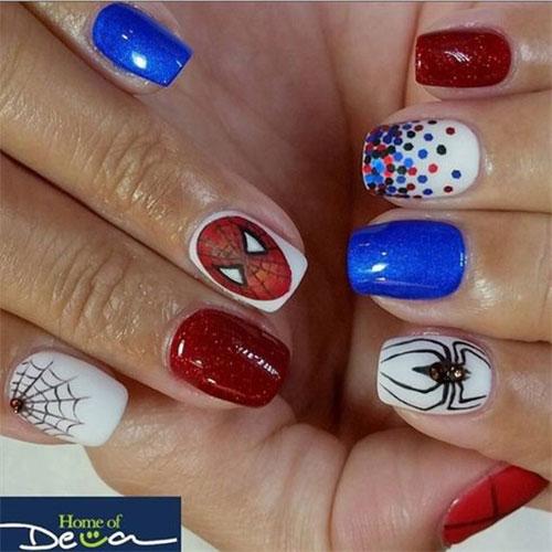 Spider-Man-Nail-Art-Designs-Ideas-Trends-2019-Spider-Man-Nails-6